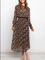 Long Sleeve Floral Holiday Maxi Dress