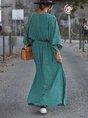 Holiday Half Sleeve Maxi Dress