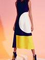 Geometric Sleeveless Elegant Dress