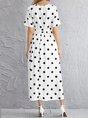Short Sleeve Vintage Crew Neck Dress