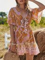 Short Sleeve Tribal Dress