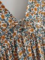 Floral Sleeveless Deep V-Neck Dress