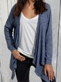 Buttoned Shawl Collar Knitted Casual Outerwear
