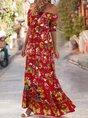 Sundress Shift Beach Printed Maxi Dress