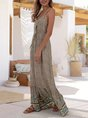 Spaghetti-Strap A-Line Beach Maxi Dress