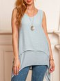 V Neck Sleeveless Tunic