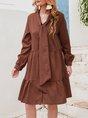 Orange A-Line Date Casual Cotton Mini Dress