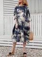 Royal Blue Shift Midi Dress