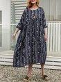 Royal Blue Swing Date Casual Maxi Dress