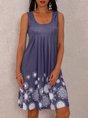 A-Line Floral Mini Dress