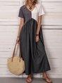Plus Size Summer Dress Short Sleeve Dress