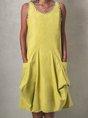Round Neck Mini Dressesdresses Casual Solid Dress