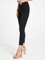 Black Pockets Casual Skinny Leg Pants
