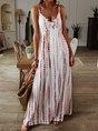 V Neck Sleeveless Maxi Dress