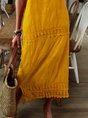 Bohemian Large Size Sleeveless Strap Dress