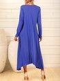 Purplish Blue Dresses Shift Daily Casual Dresses