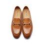 Black Flat Heel Metallic Leather Loafers