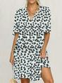 Plus size Daisy Short Sleeve Casual Dress