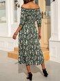Cotton-Blend Sweet Half Sleeve Shift Dress