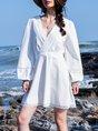 A-Line Beach Solid Dress