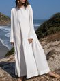 Shift Casual Long Sleeve Maxi Dress
