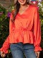 Orange Casual Vintage Top