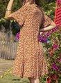 Floral Casual Shift Short Sleeve Mini Dress