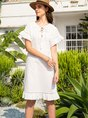 Daily Casual Solid Midi Dress