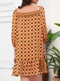 3/4 Sleeve Holiday Mini Dress