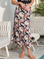 Floral Casual Holiday Romantic Floral Skirt