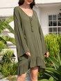 Casual Long Sleeve Vintage Dress