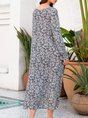 V Neck Shift Beach Casual Dress