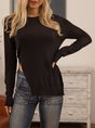 Black Long Sleeve Knitted Sweater