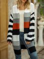 Gray Color-block Long Sleeve Sweater