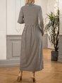 Black Turtleneck Long Sleeve Maxi Dress