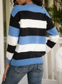 Stripes Casual Crew Neck Sweater