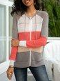 Stripes Hoodie Long Sleeve Sweater