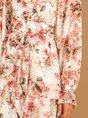 V Neck Long Sleeve Floral Dress
