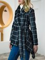 Shift Shawl Collar Casual Long Sleeve Outerwear With Belt