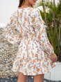 Tropical Printed Holiday Mini Dress