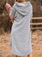 Casual Hoodie Shift Long Sleeve Mini dress
