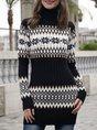 Christmas Long Sleeve Casual Geometric Sweater
