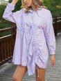Shawl Collar Dress Shift Date Casual Dress
