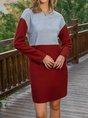Casual Long Sleeve Midi Dress