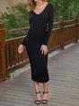 Long Sleeve Casual Midi Dress