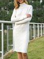 Shift Long Sleeve Casual Sweater Dress