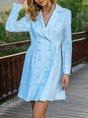 Elegant Shawl Collar Long Sleeve Dress