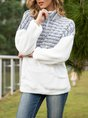 Stripes Casual Shift Hoodies And Sweatshirt