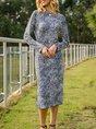 Sheath Daily Leopard Midi Dress